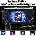 7 polegada 1 Din jogador rádio Do Carro DVD GPS WIFI 4G RDS controle de volante para BMW E46 M3 tela de toque AM FM RDS