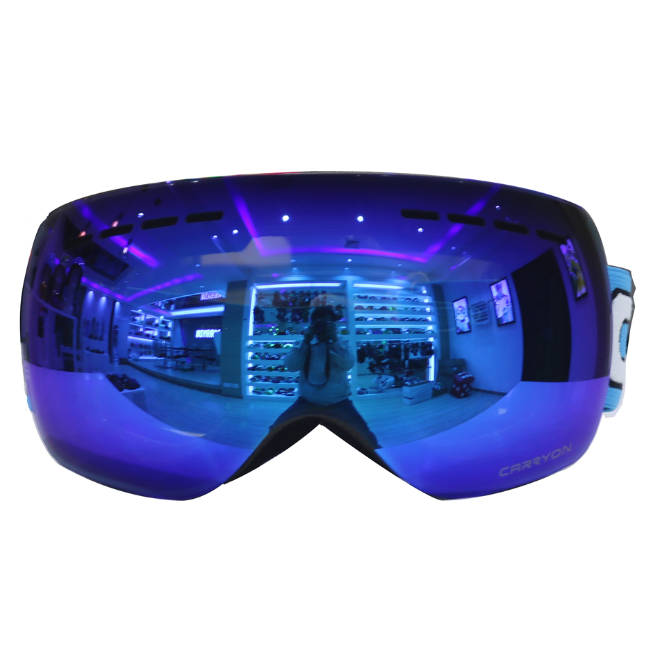 Лыжные очки двойной линзы UV400 Анти-туман Лыжная маска Очки Для женщин Для мужчин Лыжный Спорт Снег очки cr659