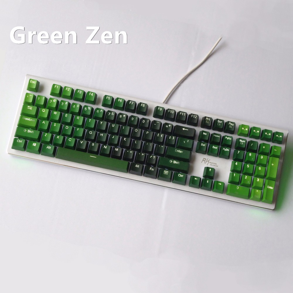 Gradient color 108 Key Double shot Backlight thick PBT Keyboard keycap OEM height For cherry MX switches Mechanical keyboard