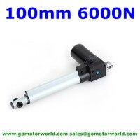 100mm stroke 6000N 600KG load 42mm/s speed 12V 24V DC recliner chair motor furniture motor free shipping