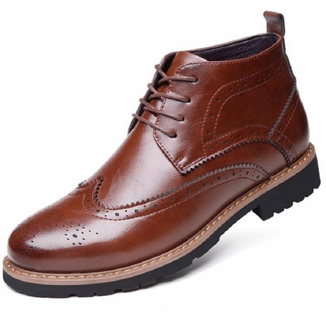 Masculino-de algodão acolchoado sapatos de inverno de couro flannelet plus size 48 de alta moda sapatos casuais Botas de Neve para homens alta Qualidade