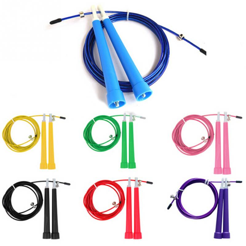 5 Colors Adjustable Skipping Rope 3M Speed Steel Wire Skipping Jump Rope Crossfit Crossfit MMA Box Gome Gym Fitnesss Equipment