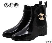 Новая обувь на резиновой подошве, женские непромокаемые сапоги для девочек, женские непромокаемые сапоги из ПВХ для прогулок, зимние женски...