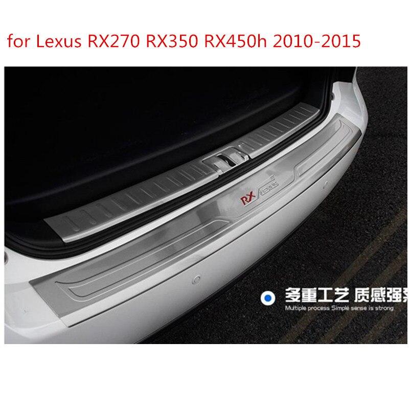 Calidad superior! 304 inoxidable interior y exterior parachoques trasero protector tronco tapa para Lexus RX 450 H 350 270 2010- 2015