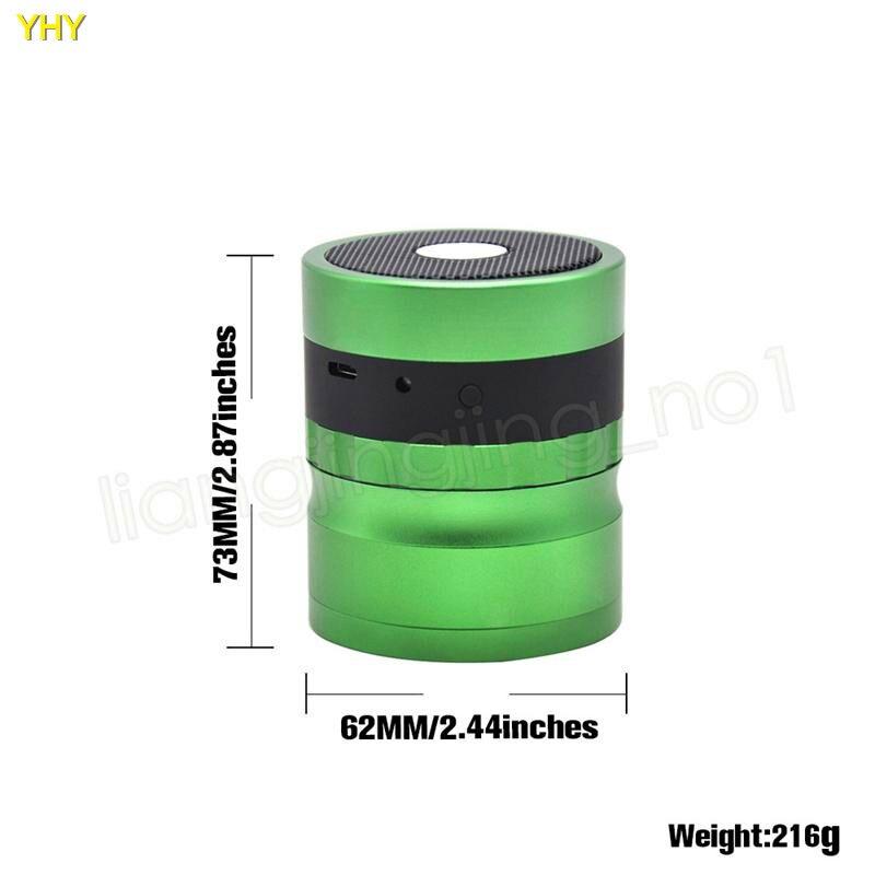 Bluetooth Grinders 62mm metal herb grinder for tobacco grinder speaker 2 in 1 creative smoking grinders Accessories GGA99503