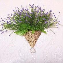 Artificial Flowers Basket Storage basket Flores Flower baskets arrangement Iron Wall hanging baskets Home Decoration accessories