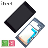 IFEEL 10 pieces/lots LCDS for SONY Xperia Z3 Dual Display LCD D6633 D6603 For SONY Xperia Z3 Display Touch Screen with Frame