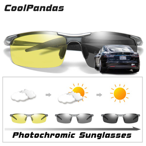 Image 2 - Top Aluminum Magnesium Photochromic Sunglasses Men Driving Polarized Glasses Day Night Vision Driver Goggles gafas oculos de sol