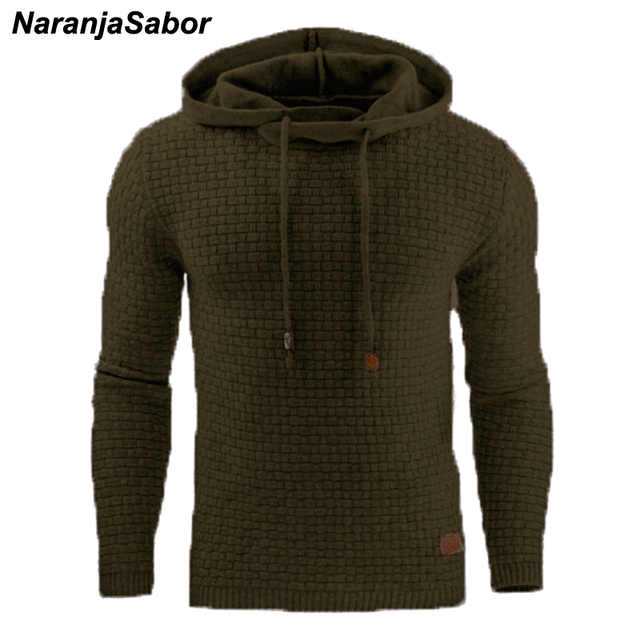 Autumn Men's Slim Hooded Sweatshirts 4