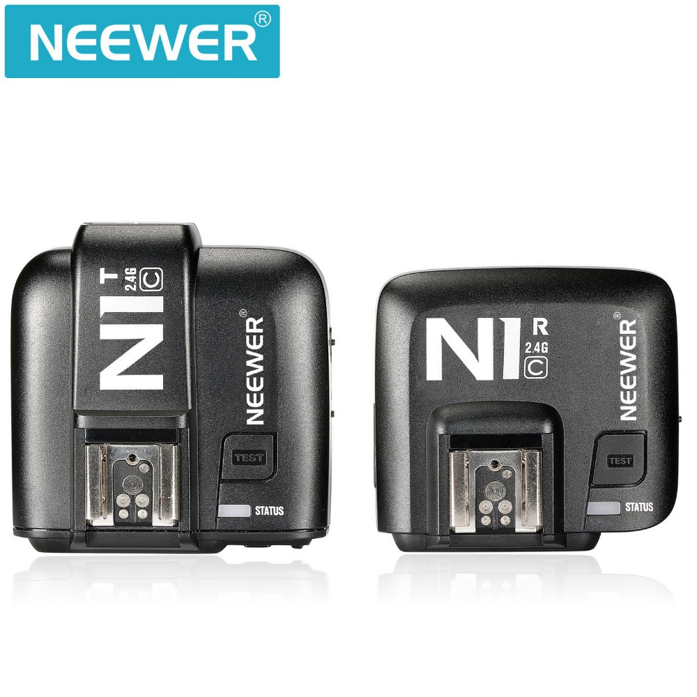 Neewer E-TTL 2.4G Wireless Flash Trigger Transmitter+Receiver For Canon 5D Mark II/III/70D 60D 550D DSLR Camera As Godox X1C godox x1t s ttl 2 4g wireless trigger for sony 2x xtr 16s flash receiver for v850 v860 c v850ii v860iic v860n v860ii f v850ii