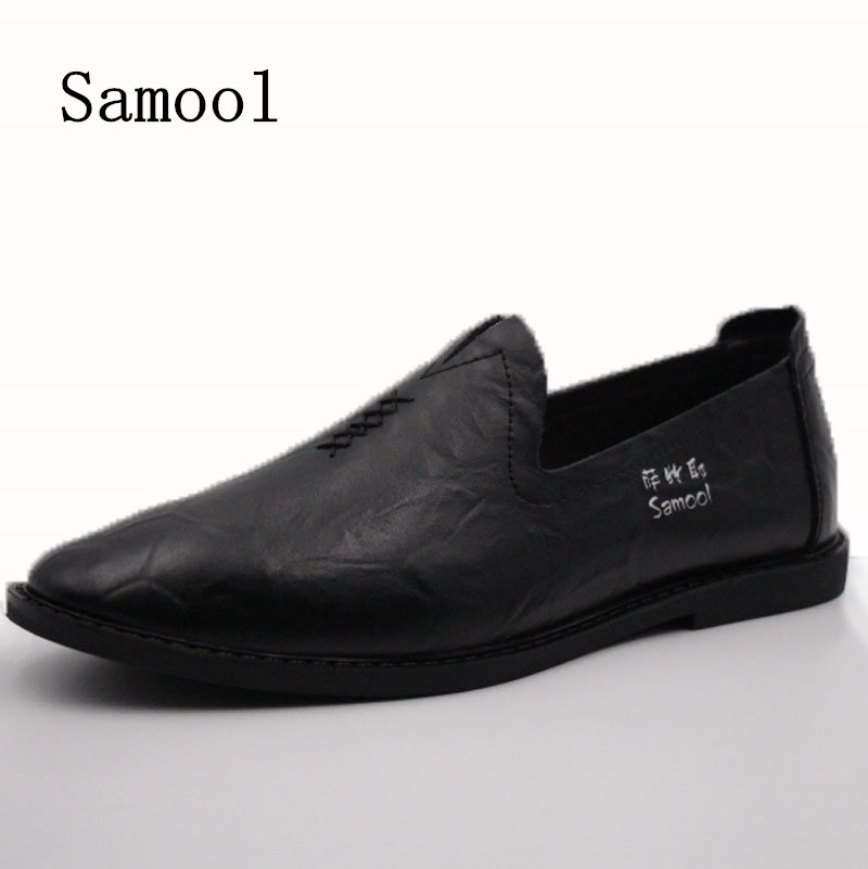 Autumn Winter Cow Split Leather Men Flat Shoes Brand Moccasins Men Loafers Driving Shoes Fashion Casual Shoes Big Size 37-45 split leather dot men casual shoes moccasins soft bottom brand designer footwear flats loafers comfortable driving shoes rmc 395