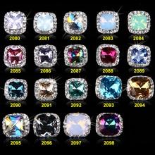 50PCS/Lot New High Quality Opal Rhinestone Alloy Nail Art Decorations Glitter Charm 3D Jewelry Manicure Supplies 2080-2098