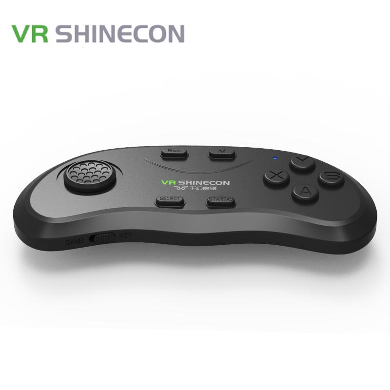 Original VR Shinecon Bluetooth Wireless Hand Type Handle Portable Gamepad for VR Smart TV iOS Android Smartphone Pad