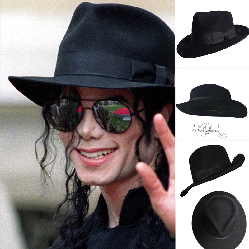 fdfcd1d26d3f2 The Best Fedora Black Wool Retro Hat of Michael Jackson for MJ fans with  Name Formal Gentry -in Men s Fedoras from Apparel Accessories on  Aliexpress.com ...