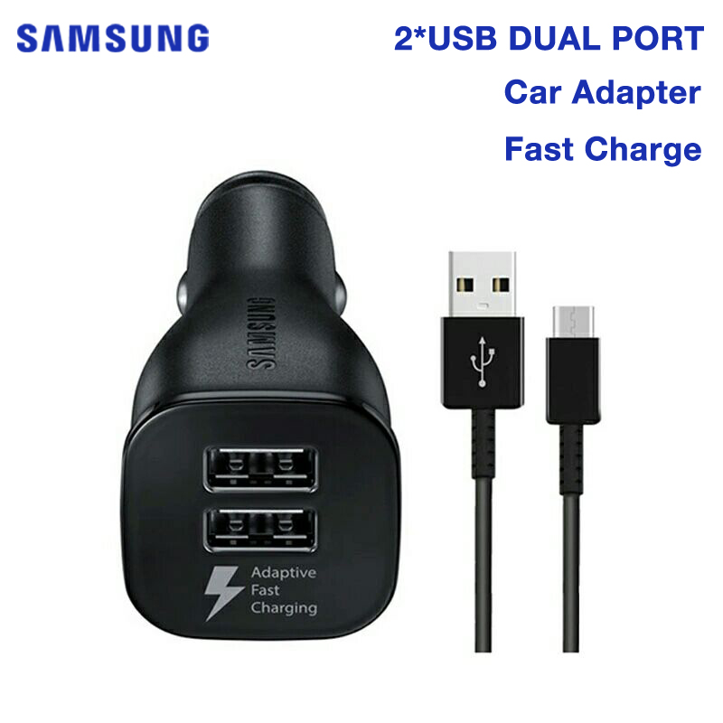 <font><b>SAMSUNG</b></font> Original Quick Charge <font><b>Car</b></font> <font><b>Charger</b></font> for <font><b>Samsung</b></font> GALAXY S8 Plus S7 S6 G9200 W2017 C5 C9 Pro A7 A9 2018 N9100 Note 7 C7 Pro image