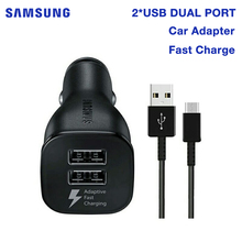 цена на SAMSUNG Original Quick Charge Car Charger for Samsung GALAXY S8 plus S7 S6 G9200 W2017 C5 C5000 Note 4 N9100 Note 7 N9300 C7 Pro