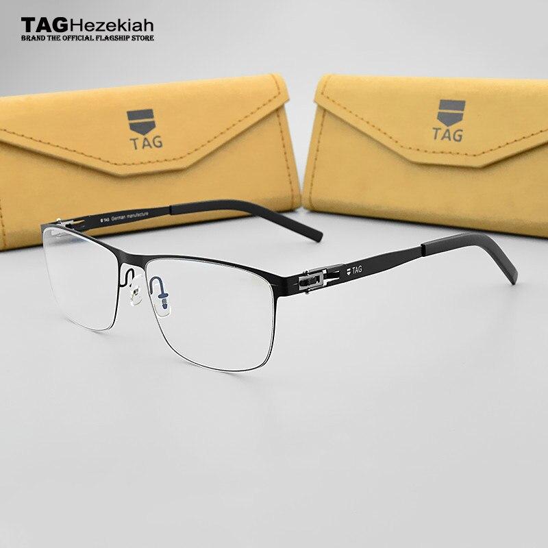 Inoxydable En Acier lunettes cadre femmes 2018 TAG Marque Rétro mode lunettes  cadres pour hommes Myopie 4aaefbcc6f19