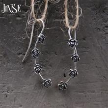 JINSE S925 чистое серебро, ювелирные изделия, роскошные винтажные античные серебряные четыре Подвески Цветы, висячие серьги для женщин 4,50 мм