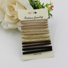 10pcs/pack hair tie set 2016 women fashion hair bands hair accessories trendy hairband for women elastic sets braid elastic