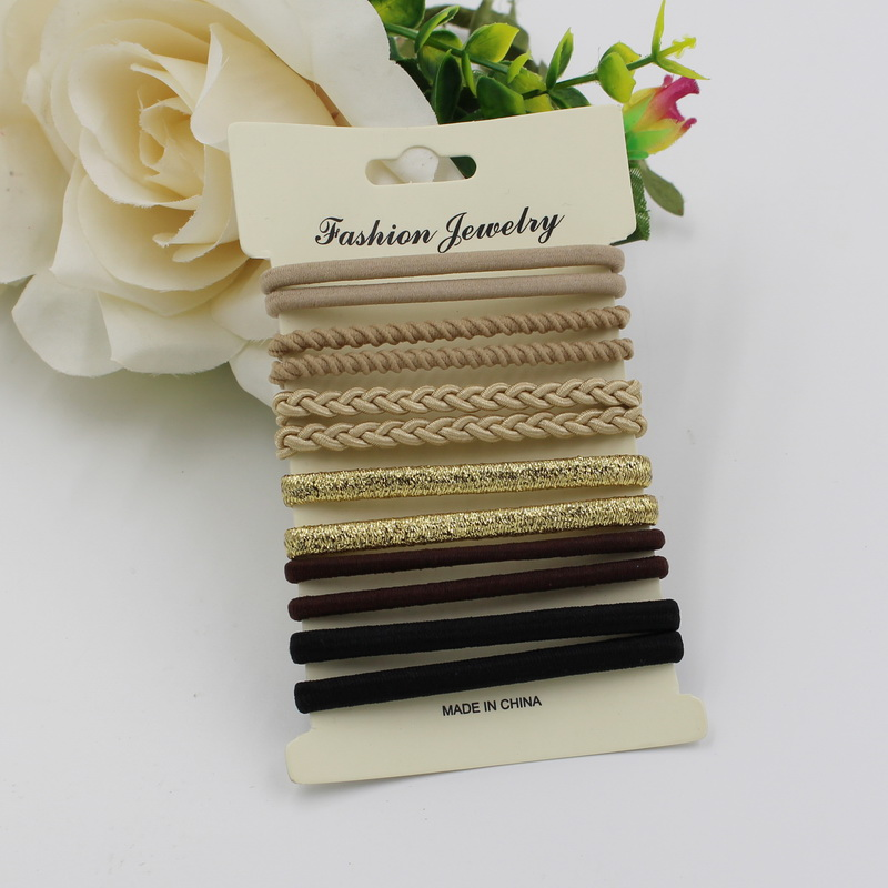 10pcs/pack Hair Tie Set 2016 Women Fashis
