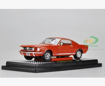 Ford 1966 Mustang GT2 +2 1:24 car model alloy kids toy Fast & Furious Classic cars Sports car American Muscle Car boy gift