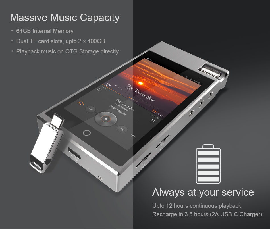CAYIN N5iiS Android Based Master Digital Audio Lossless Music Player 15