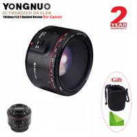 YONGNUO YN50mm F1.8 II objectif de mise au point automatique à grande ouverture pour Canon, petit objectif à effet Bokeh pour appareil photo reflex numérique EOS 70D 5D2 5D3