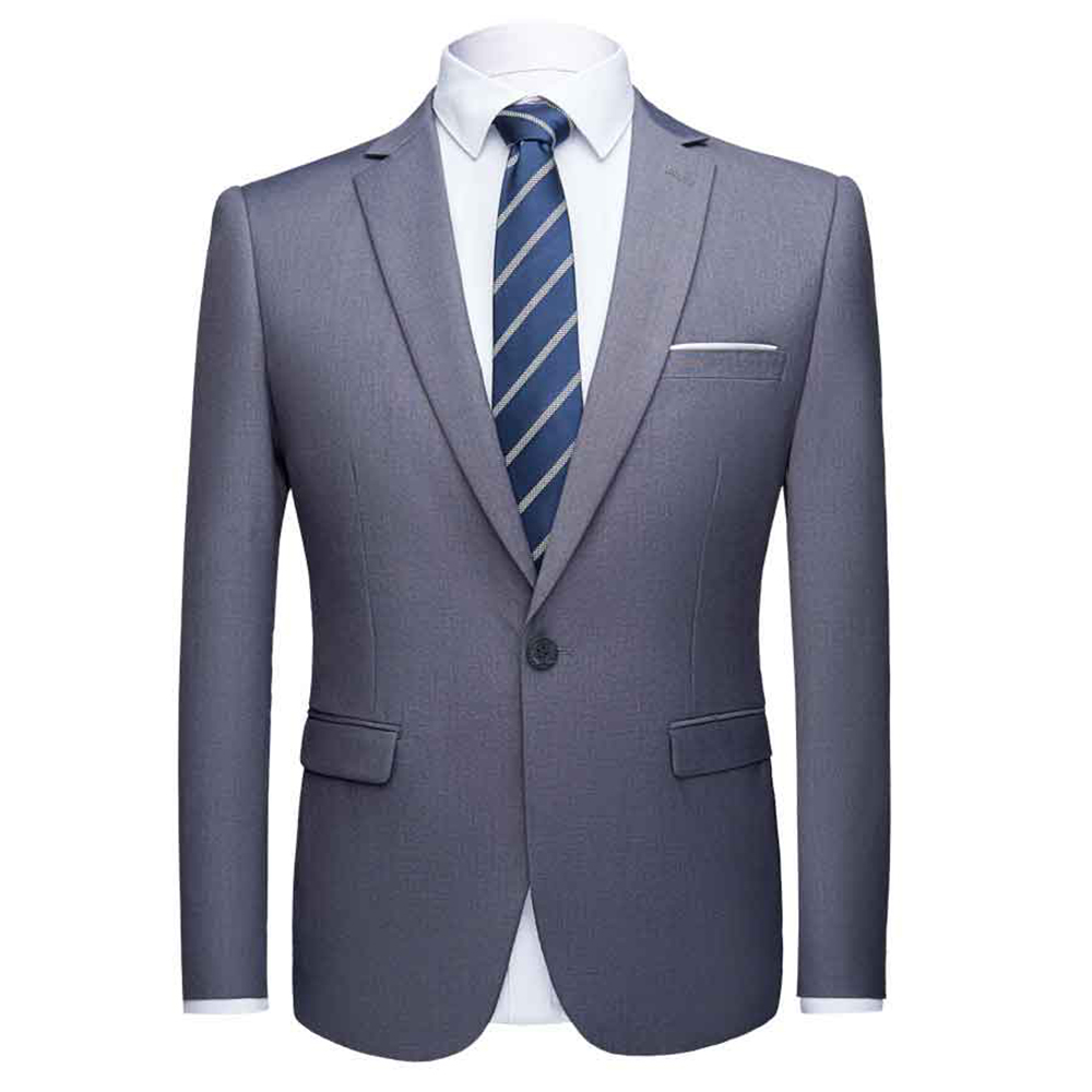 Fashion Asian Size Solid Men Blazers <font><b>Hombre</b></font> Grey Black Casual Business Formal Blazer Masculino Slim Suit Jackets Plus Size <font><b>6XL</b></font> image