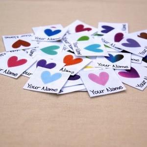 Image 2 - 96 miếng Tùy Chỉnh logo nhãn/Thương hiệu nhãn, cá tính thẻ tên dành cho trẻ em, sắt trên, tùy chỉnh Quần Áo Nhãn, Thẻ Tên