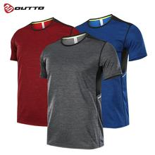 Outto Mens Running T-shirts Short Sleeve Gym Fitness Quick Dry Slim Fit Top Multi-Purpose Sports Breathable Garments