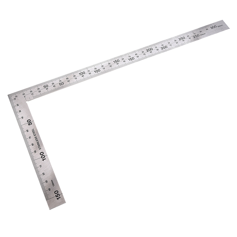 Stainless Steel 150 X 300mm 90 Degree Angle Metric Try Mitre Square Ruler