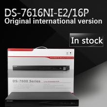En stock DS-7616NI-E2/16 P 16ch NVR con 2 puertos SATA 16POE versión Inglés HDMI y salida VGA embedded plug & play H.264 NVR POE