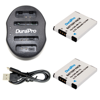 DuraPro 2 Pcs 900mAh NB 11L NB11L NB 11L Camera Battery 1 USB Dual Charger For