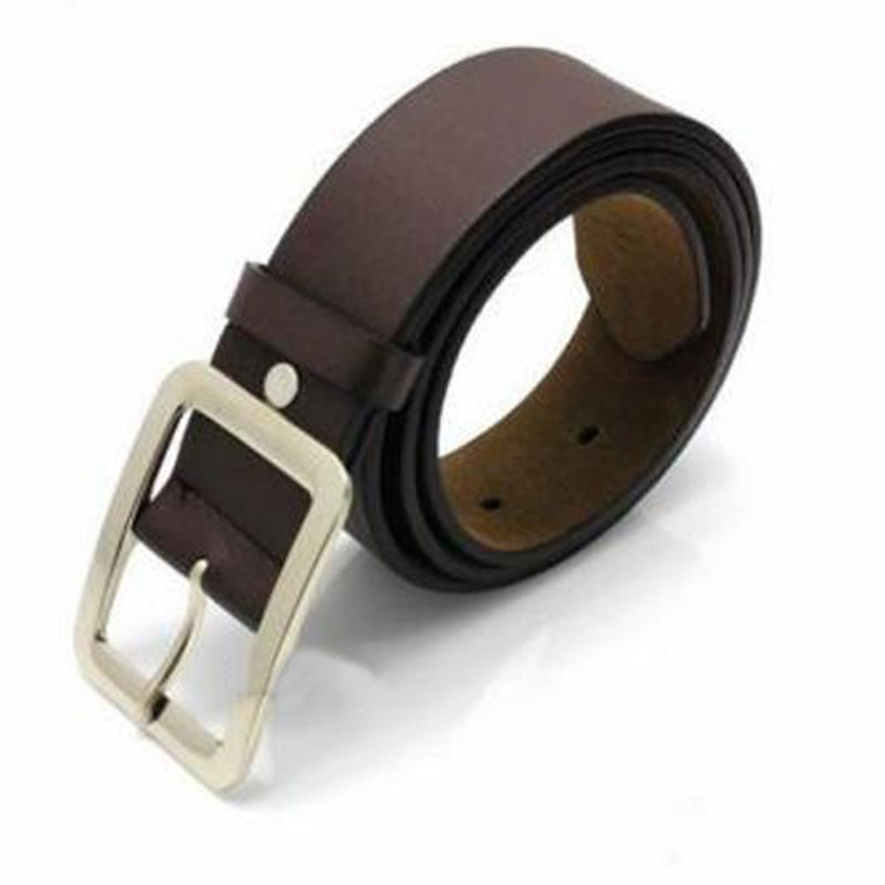 Business Men Casual Pin Buckle Waist luxury Strap Faux Leather Belt Waistband Accessory classice vintage pin buckle dropshipping
