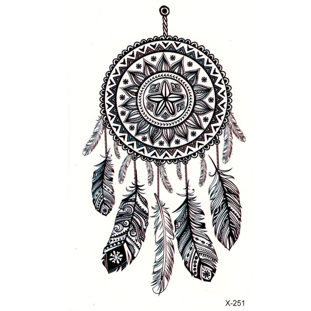 Waterproof Dreamcatcher Temporary Tattoo