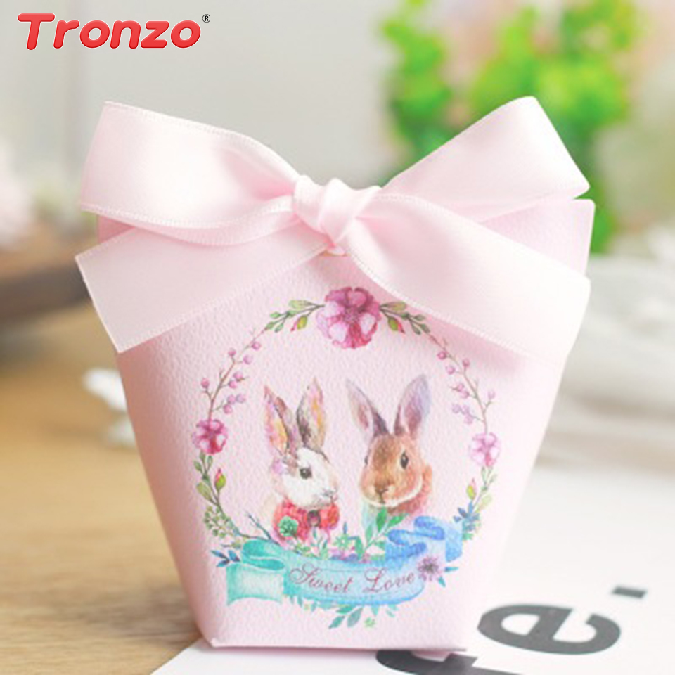 Tronzo easter party gift boxes wedding decoration 10pcs bunny tronzo easter party gift boxes wedding decoration 10pcs bunny rabbit candy cookie box wedding gifts for guests easter decoration in gift bags wrapping negle Images