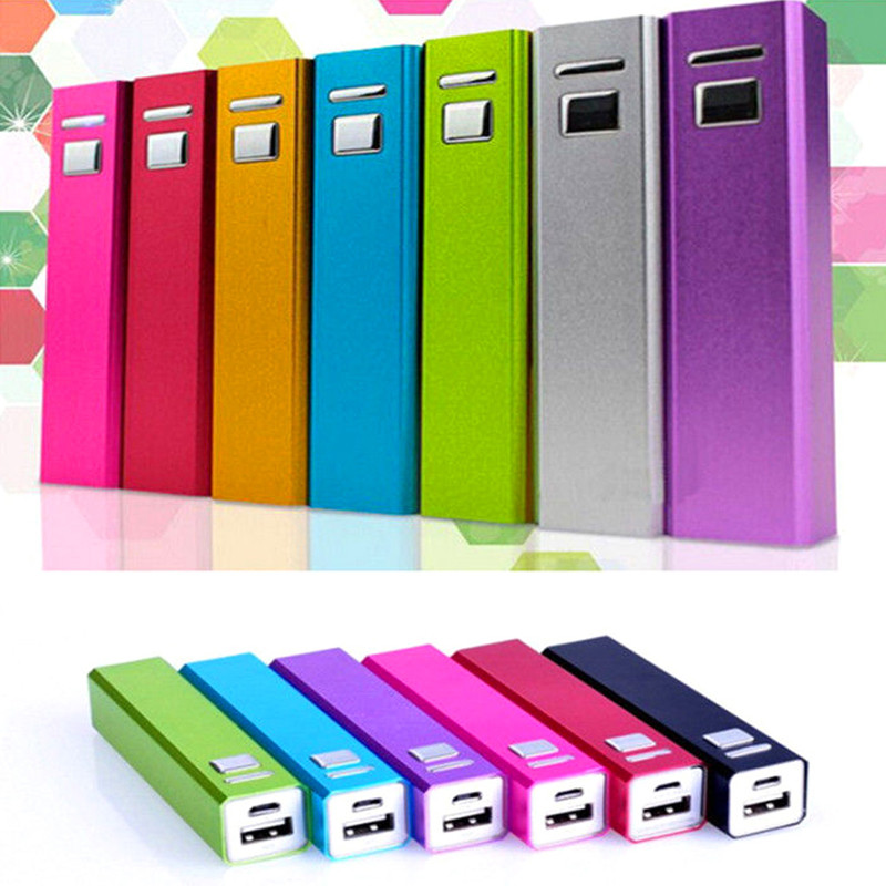 OOTDTY Aluminum DIY USB Power Bank Case Only 18650 Battery Charger 2600mAh Cover Kit