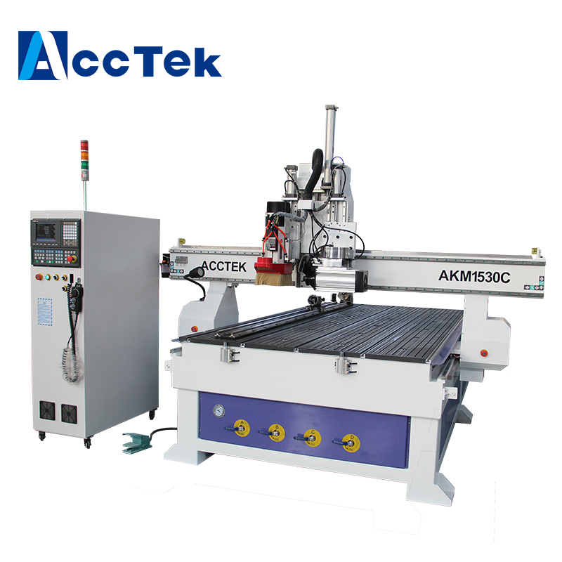 Discount Price Woodworking Furniture Making Machine 5x10 ft Linear ATC 1325 Cnc Router with cut saw