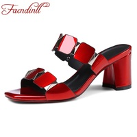 FACNDINLL 2018 New Summer Fashion High Quality Women Gladiator Sandals Shoes High Heels Open Toe Shoes