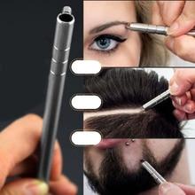 Прическа ручка с гравировкой+ 10 шт. лезвия профессиональные триммеры для укладки волос брови для бритья салонные аксессуары для прически