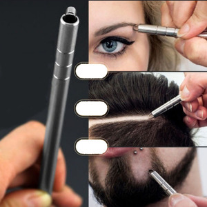 Hairstyle Engraved Pen+10Pcs Blades Professional Hair Trimmers Hair Styling Eyebrows Shaving Salon Hairstyle Accessory