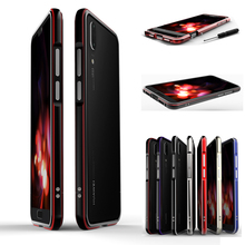 Aluminum Metal Bumper Frame For  Huawei P20 Pro Case Luxury Shockproof Dual Color Case for  Huawei P20 Plus P20+ Cover Case Capa