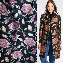 JaneYU 2019 New High-grade Fall And Winter Dyed Three-dimensional Flower Jacquard Fashion Fabric Peng Skirt Coat Dress Fabric