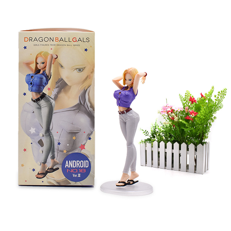 Anime Dragon Ball Z ANDROID NO 18 Lazuli Action Figure PVC Toy Sexy Girl Collectible Model Great Birthday Christmas GiftAnime Dragon Ball Z ANDROID NO 18 Lazuli Action Figure PVC Toy Sexy Girl Collectible Model Great Birthday Christmas Gift