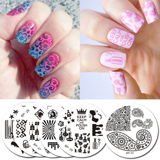Born Pretty 2 Pcs Cute Owls Nail Art Stamping Template Image Plate