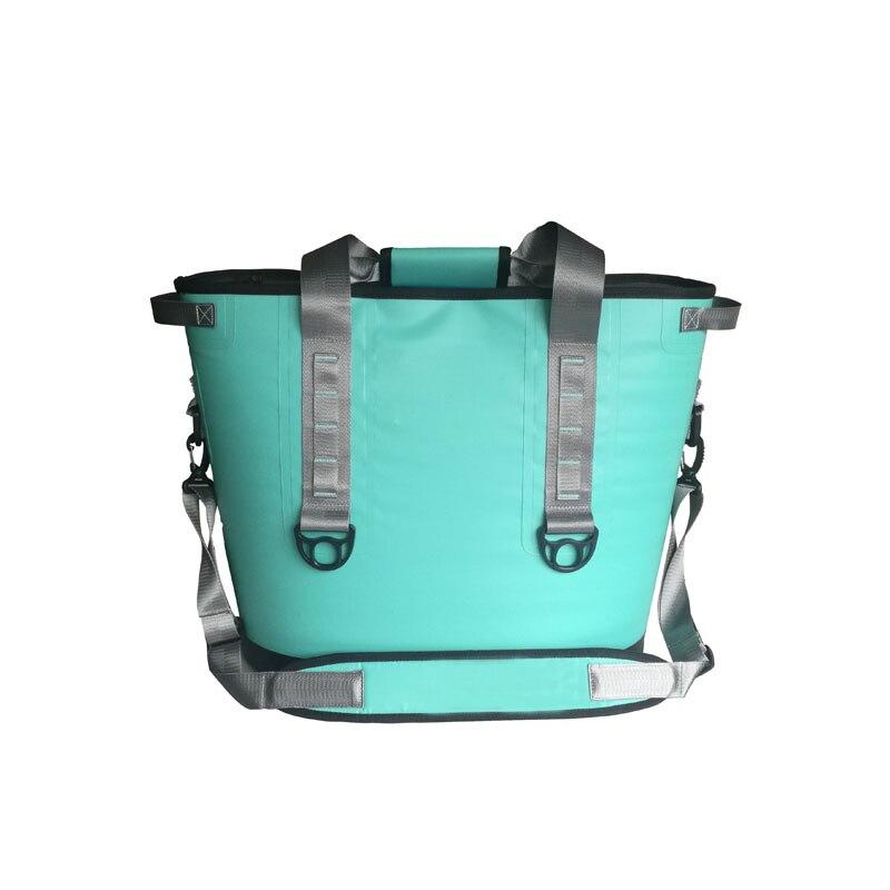 Gzl Новый Зеленая мята сумка-холодильник 20 банок и бункер два Портативный охладитель