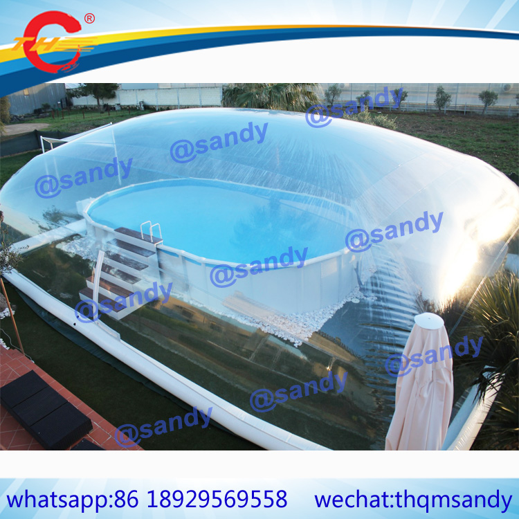 US $1500.0 |free air ship to door,giant outdoor clear inflatable swimming  pool cover,transparent inflatable pool ceiling bubble dome tent-in ...