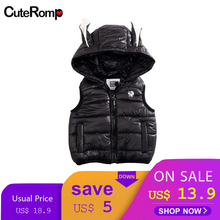 Winter Vest KidS Clothes Hooded Waistcoats Casual Baby Girl Vest Coats gilet baby girl clothes winter abrigo baby jas Jacket