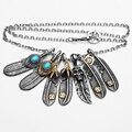 Ювелирные изделия Перо Ожерелье Мужчины Личность Череп Орел Titanium Стали Ключицы Ожерелье Случайный Старинные Ожерелья