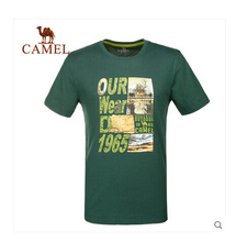 Camel Outdoor Men Round Neck T-shirt Spring and Summer Comfortable Male Short-sleeve Quick-drying T-shirts 5T1A26112